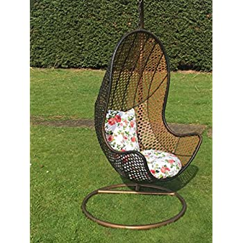 Patio Hanging Chair Garden Rattan Swing Seat Comfortable Cushion Relax Egg  Chair