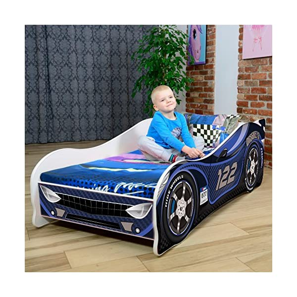 Sale +++ The Best Quality Baby Kids Bed Toddler Car Junior Bed with Mattress 140 x 70 cm 160 x 80 cm 180 x 80 cm (160x80cm Untill 8 Jears, Navy)  Kids Bed + Foam Mattress in 3 Sizes: 140 x 70 cm untill 5 jears 160 x 80 cm untill 8 jears 180 x 80 cm untill 12 jears Greengard Gold - Product certified for law chemical emissions Ecologo - Product certified for reduced environmental impact 2