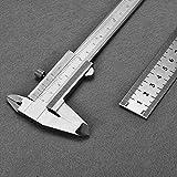 Vernier Caliper, TEPSMIGO 150mm (6 pollici) Metric & Imperial Calotte Vernier con righello in acciaio da 20cm ¡