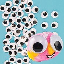 Baker Ross Ojos móviles autoadhesivos grandes (Paquete de 100) Para manualidades infantiles