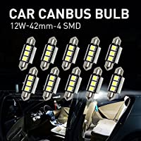 Mihaz 10x 36mm CAN-Bus senza errori del festone 3SMD W5W C5W 5050 LED SMD lampadine per luci interne auto o targa a LED Bulbi (10 * 36mm 3SMD)
