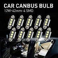 Mihaz 10x 36mm CAN-Bus senza errori del festone 3SMD W5W C5W 5050 LED SMD lampadine per luci interne auto o targa a LED Bulbi (10 * 36mm