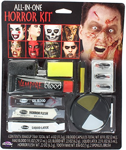 Skelett Up Make (Familiengröße Horror Make Up Kit -)