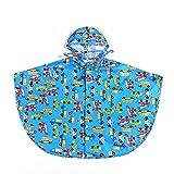 Regenmantel Kinder Cloak Boy Girl Poncho Baby Student Regenbekleidung (Farbe : Blue, größe : L)
