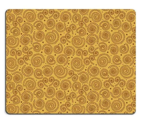 luxlady Gaming Mousepad Bild-ID: 17333332Golden Abstraktes Spirale Muster nahtlos stylische Hintergrund mit Circles lookes wie Häkeln Spitzendeckchen (Golden Häkeln)