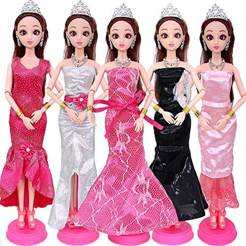 XuBa 5 Teile / Satz Kleid Rock Hochzeitskleid Formale Freizeitkleidung Set Exquisite für Barbie 30...