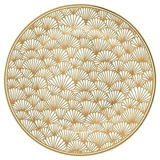 GreenGate Gate Noir - Teller, Kuchenteller, Frühstücksteller - Jacqueline Gold - Ø: 20 cm - Art Deco Muster Gold
