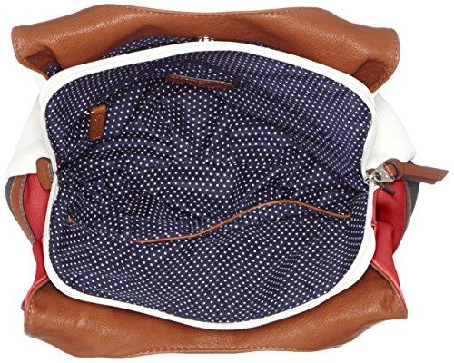 Borsa A Tracolla Juna Tom Tailor Ladies, 14x29x31 Cm Multicolore (rosso)