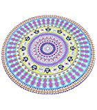 NiSeng Round Lock Edge Beach Towels Round Travel Cushions Multicolor Sun Resistant Cloak And Shawl