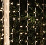 LED String Lights, Quntis Window Curtain Icicle LED String Lights, 4*0.6M 144 LED Outdoor Indoor String Fairy Light for Christmas Wedding Party Home Garden Bedroom Lighting Decoration - Warm White