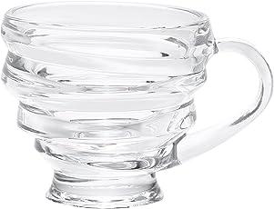 Kittens Transparent Glass Spiral Cups (Set Of 6)