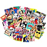 Sexy Girls Women Stickers Decals Vinyl Art Work Vintage Retro Stickers for Bumper Guitar Decals Phone Case Luggage Skateboard (52pcs Sexy Stickers)