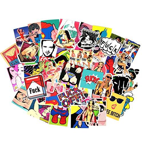 Sexy Girls Frauen Aufkleber Aufkleber Vinyl Kunst Vintage Retro Aufkleber für die Bumper Gitarre Aufkleber Telefon Fall Gepäck Skateboard 52pcs Sexy Stickers
