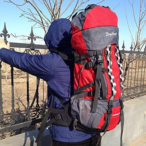 BUSL Outdoor-Rucksack Bergsteigen Taschen 60L große Kapazität skalierbar Männer und Frauen reisen Rucksack a
