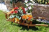Holzlager, Holz,-Schubkarre zum Bepflanzen, Blumentöpfe, Pflanzkübel, Pflanzkasten, Blumenkasten, Pflanzhilfe, Pflanzcontainer, Pflanztröge, Pflanzschale, Schubkarren 100 cm HSOF-100-DUNKELBRAUN Holzlager, Holz, in amazon dunkelbraun braun Pflanzgefäß, Pflanztöpfe Holz, als historische Sackkarren usw.