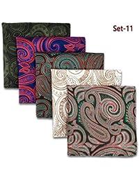 Shlax y ala 5piezas Varios colores para hombre pañuelos de bolsillo Square Set