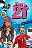 21st Birthday Gifts For Men and For Women - Happy 21st Birthday Card and Chart Hits CD