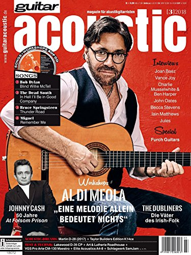 guitar acoustic 03 2018 mit Play along CD - Al Di Meola Workshop - Johnny Cash u.v.a.