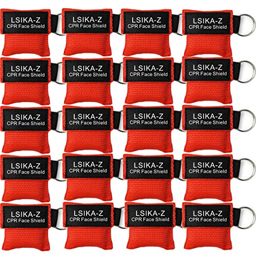 20 Stücke CPR Maske schlüsselanhänger RESPI-Key Beatmungsmaske