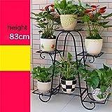 Lhl-Flower Stands Herb- und Blumen-Form-Stil aus Metall Blumen Regale innen und außen Wohnzimmer Balkon mit 6Ebenen mit Regal-Blume Fahrradständer für Innen- und Außenbereich, Vintage Stil, 2, Large