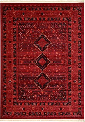 tribale stile tappeto, Polipropilene, Red, 8 x 11