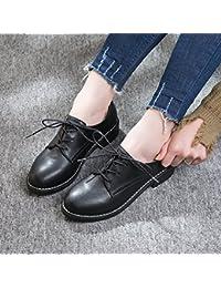 GAOLIM Zapatos De Mujer Zapatos Bajos De Cabeza Redonda Con Correa Solo Zapatos Mujer Zapatos Negros Con Negrita...
