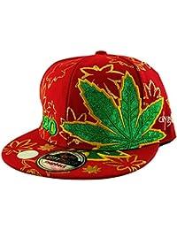 a662bd19b07 Rebel City 420 Ganja Leaf Gold Embroided SNAPBACK Fitted Flat Peak Baseball  Cap in Black Green Red White