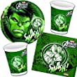 37-teiliges Partyset * AVENGERS ASSEMBLE HULK * mit Teller + Becher + Servietten + Deko // Kindergeburtstag Set Partygeschirr Deko Kinder Geburtstag Party Mottoparty Motto Luftballons Carpeta® Deko // Marvel unglaubliche Hulk Superheld