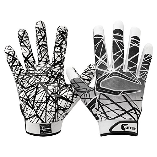 Cutters S150 Game Day Receiver Handschuhe Jugend und Senior - Weiß Gr. S