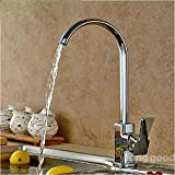 mark8shop cuadrado latón cromado cocina baño Interruptor mezclador de lavabo grifo de agua fría caliente