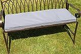 Olive Grove Garten Möbel zur Auflage für 2-Sitzer-Metall Garten Bank–Licht Grau