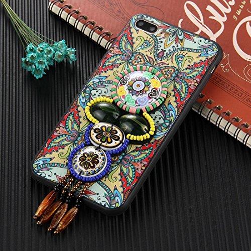 YAN Für iPhone 7 Plus Retro Ethnische Stil Decals Schutzmaßnahmen zurück Fall Fall ( SKU : Ip7p0600h ) Ip7p0600j