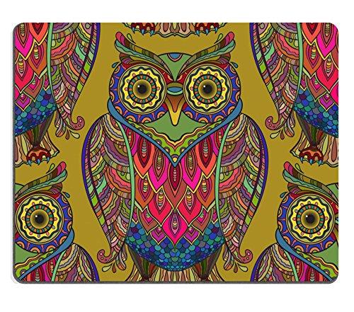 luxlady Gaming Mousepad-ID: 44638421Nahtlose Muster mit viel schöne Deko Eulen das Muster Hat Viele Details und (Eule Hats)
