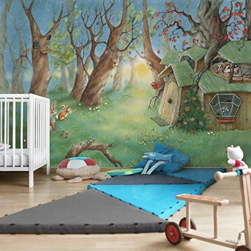 Preisvergleich Produktbild Kindertapeten - Vliestapeten - Wassili und Sibelius schlafen - Fototapete Breit, Vlies, Vliesfototapete, Wandtapete, Wandbild