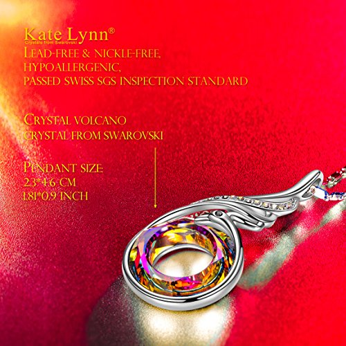 Kate Lynn Phoenix Nirvana Kette für Damen mit Swarovski Steinen und Geschenkbox, nickelfrei Getestet von SGS, 45cm