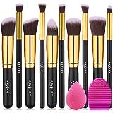 BEAKEY Set di pennelli per trucco Premium Synthetic Kabuki Foundation Cipria Fard Pennelli per ombretti Kit di pennelli per t