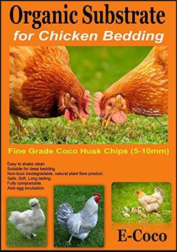 Chicken & Hen Bedding,Substrate for USE in Chickens House, Run, COOP, Hutch, NEST, Box, Pen, Shack OR CAGE (10 litres) 1