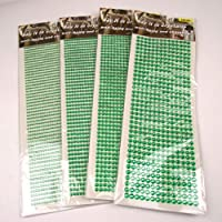 Up to 1350x Stick On Self Adhesive Rhinestones - (Green, 3mm x1350 pcs)