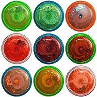 Kreisel in Neon-Farben 40 mm Smile-Design Bodenkreisel Spielzeug Mitgebsel Spielzeug