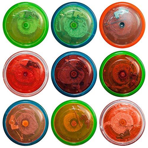 24 x Jojo mit LED Lichteffekt 6 cm Spiel Spiele Seil Tombola Mitgebsel Give away