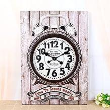 kinine Europeo creativo ornamenti muro vintage orologio