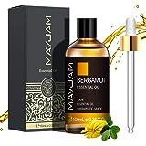 MAYJAM Huiles Essentielles de Bergamote 100 ml, 100% Naturelles Pures Huile Essentielle D'aromathérapie de Qualité Thérapeuti