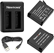 Newmowa Replacement Battery(2 Pack) and Dual USB Charger for Insta360 ONE X
