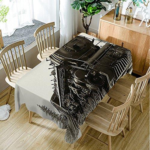 Moslion Tischdecke für Tischdecken mit Dampfmaschine, Kanada-Eisenbahn, 60 x 90 cm, Hellbraun/Dunkeltaupe