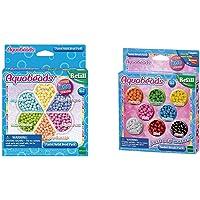 Aquabeads- Recharge Perles Pastel Activitée créative, 31360, Multicolore, Taille Unique & 79168 Recharge Perles