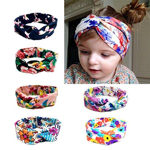 HBF 6 stk mehrfarbig elastisch Haarband Stirnband mit Böhmen Stil Mustern für Kinder Baby Mädchen