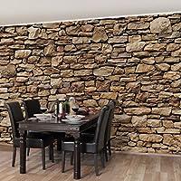 Fototapete | Steintapete Amerikanische Steinwand   Vliestapete Querformat |  Tapete Steinoptik Grau Braun | Vlies Wandbild