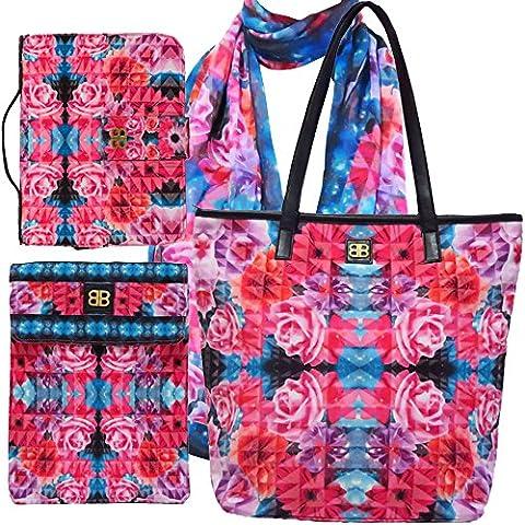 Bagabook charmant Bouquet Ultimate de sac, écharpe élégant, exécutif couverture de livre, iPad Housse pour Tablette