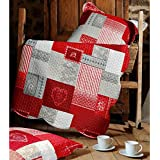 Lovely Casa Arkansas Boutis 240X220+2Taies Polyester Rouge 220 x 240 cm