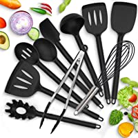 Modrad Ustensiles de Cuisine en Silicone Set D'accessoires de Cuisine 10 Pcs Kit Multiples Ensemble Anti-Rayures et…